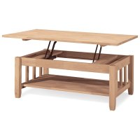 International Concepts Mission Solid Wood Lift Top Coffee ...