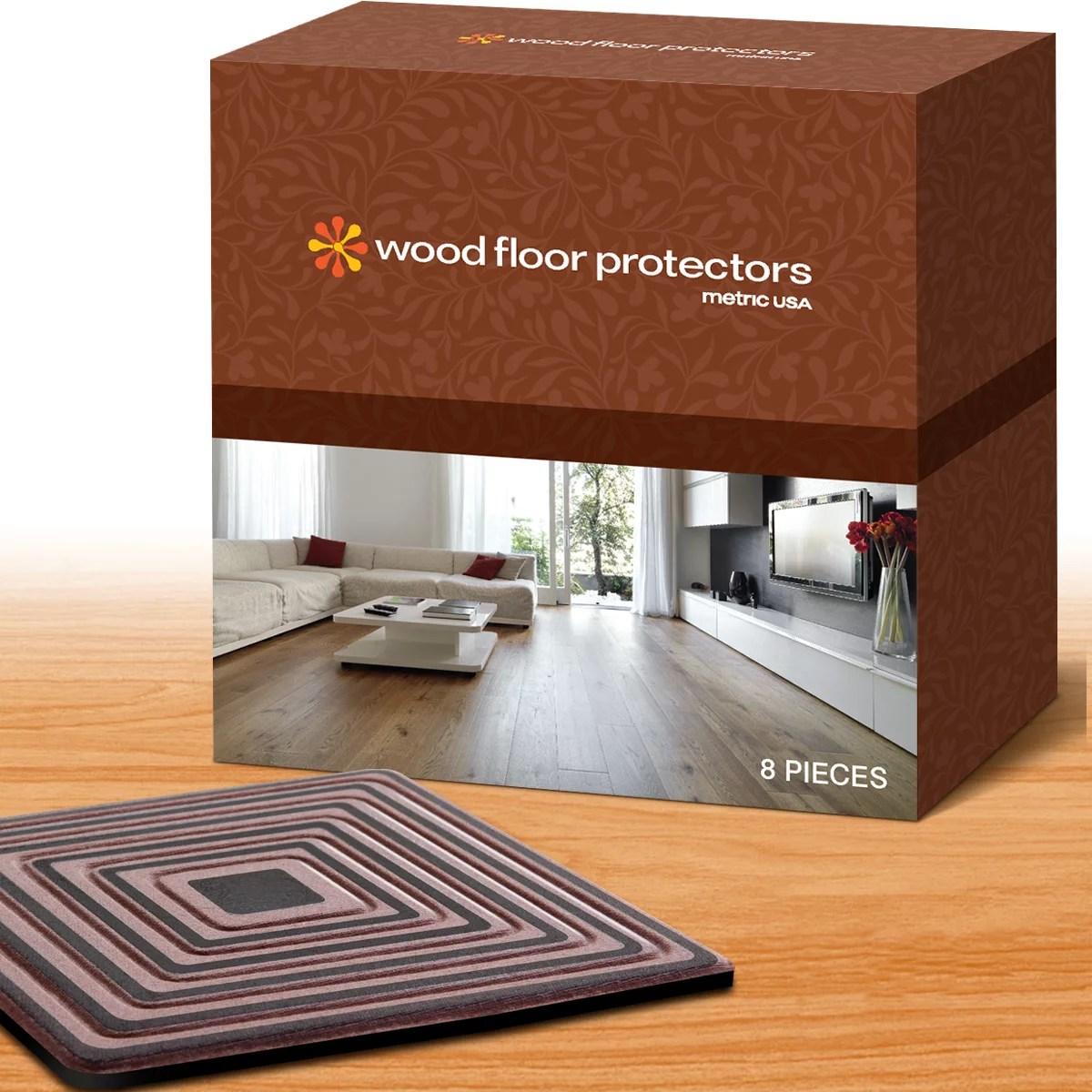 Wood Floor Protectors By Metric Usa Set Of 8 Furniture