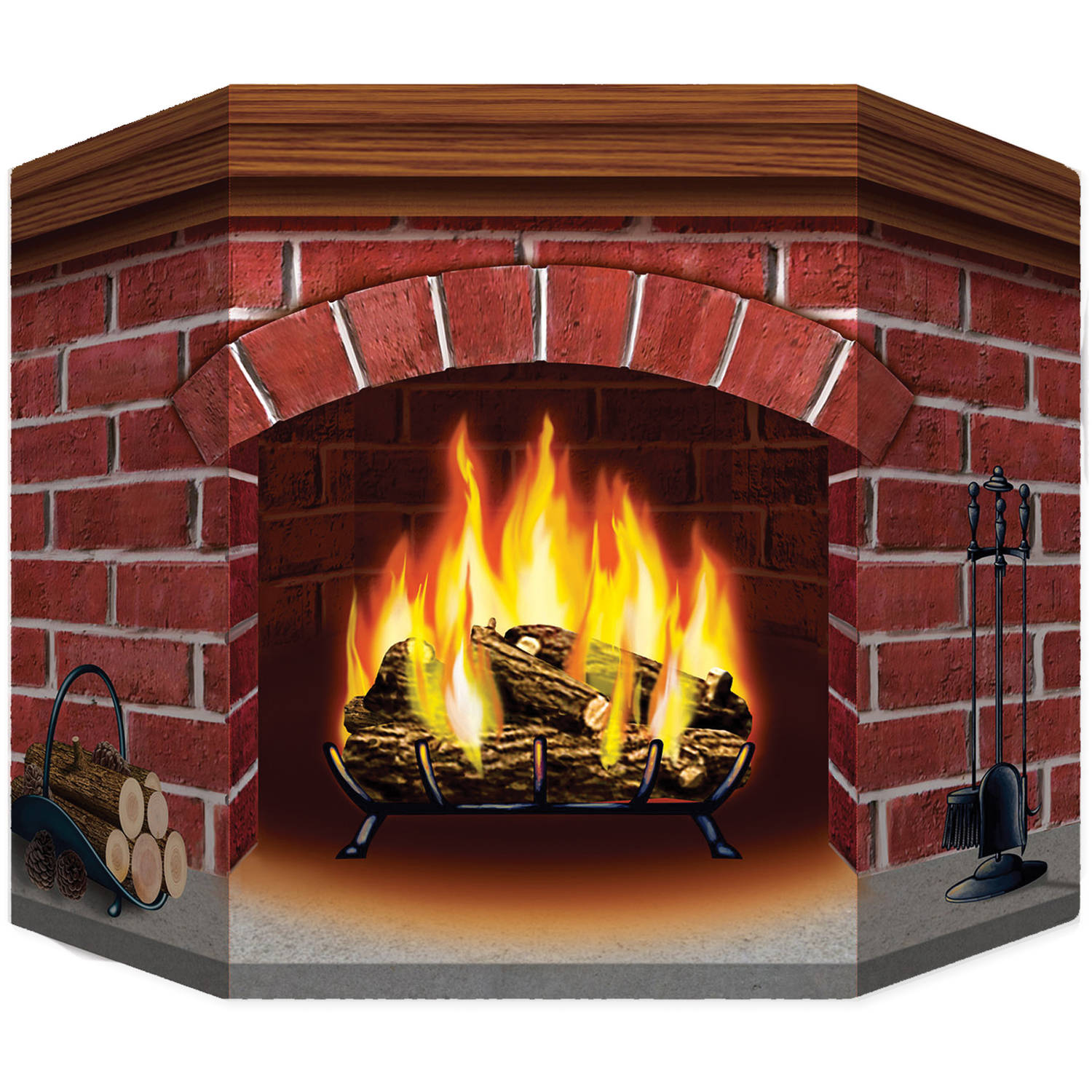 How To Decorate A Brick Fireplace Brick Fireplace Standup Halloween Decoration