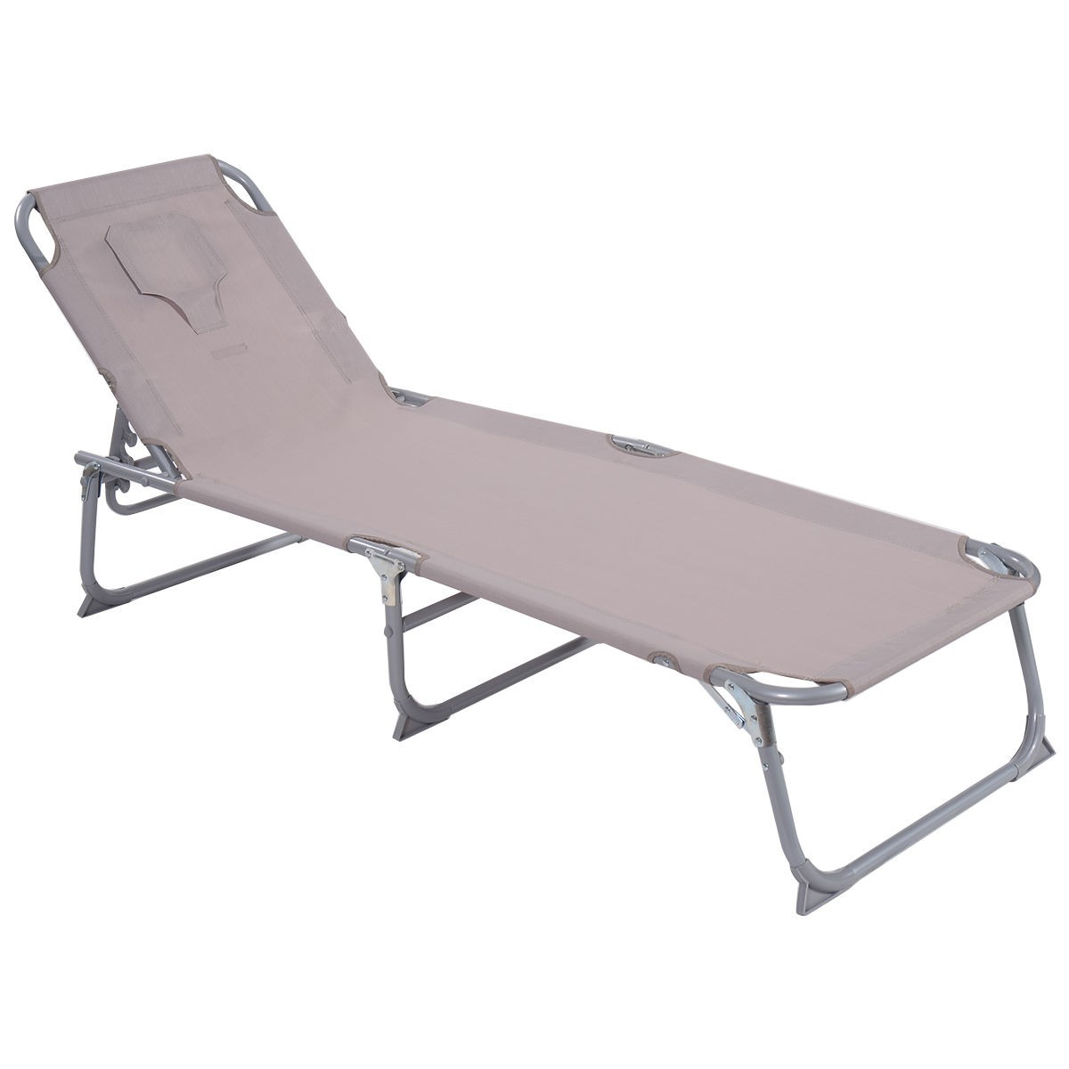 Adjustable Pool Chaise Lounge Chair Recliner Beach Outdoor