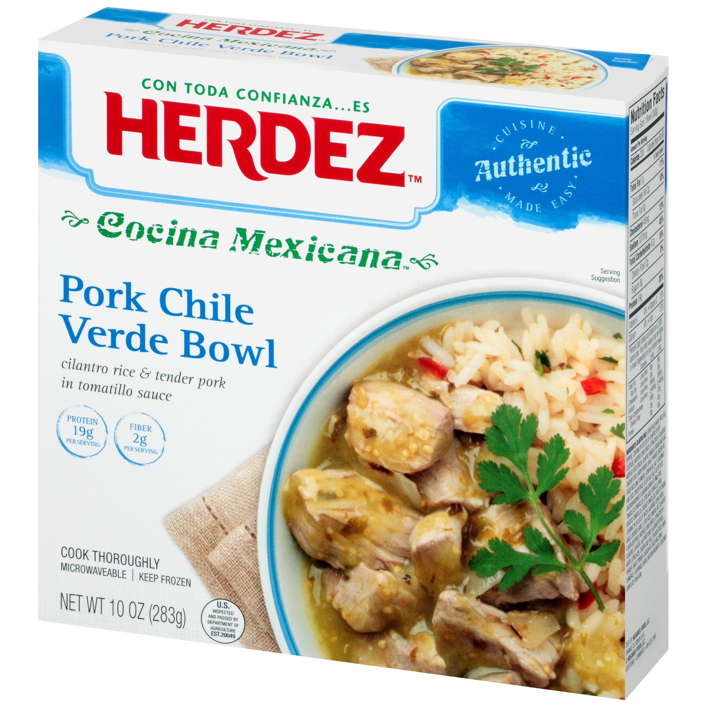 Cocina Verde Recipes Herdez Cocina Mexicana Pork Chile Verde Bowl 10 Oz Box