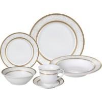 Lorren Home Trends Amelia 57 Piece Dinnerware Set ...