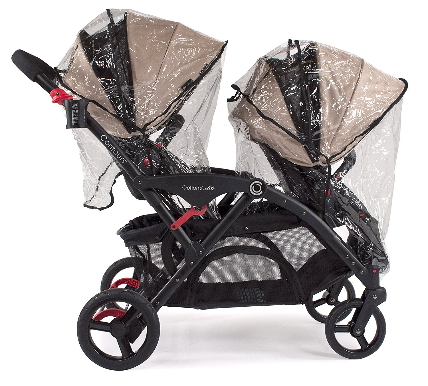 Double Stroller Rain Cover Weather Shield For Single And Double Strollers Compatible With Bliss Options Elite Tandem Options Lt Tandem Options 3 Wheel Options By