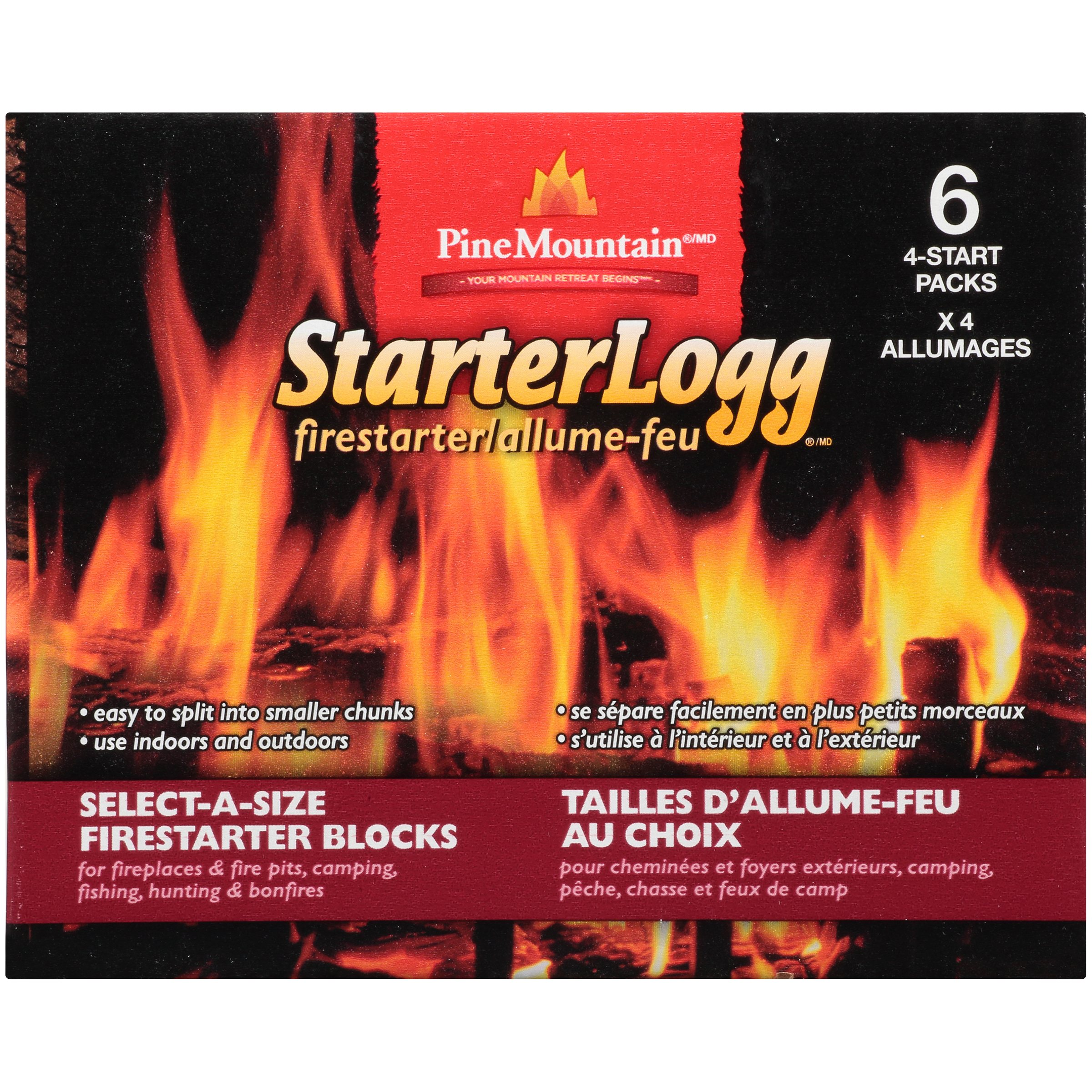 Gas Log Starters For Fireplace Pine Mountain Starterlogg 24pk