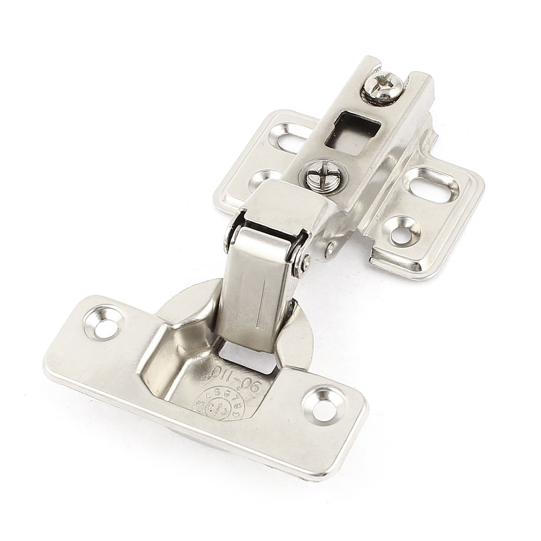 Household Spring Loaded Cabinet Door Hinges Silver Tone 4