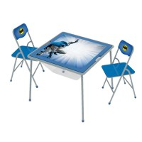 O'Kids Inc. Batman Kids' 3 Piece Square Table and Chair ...