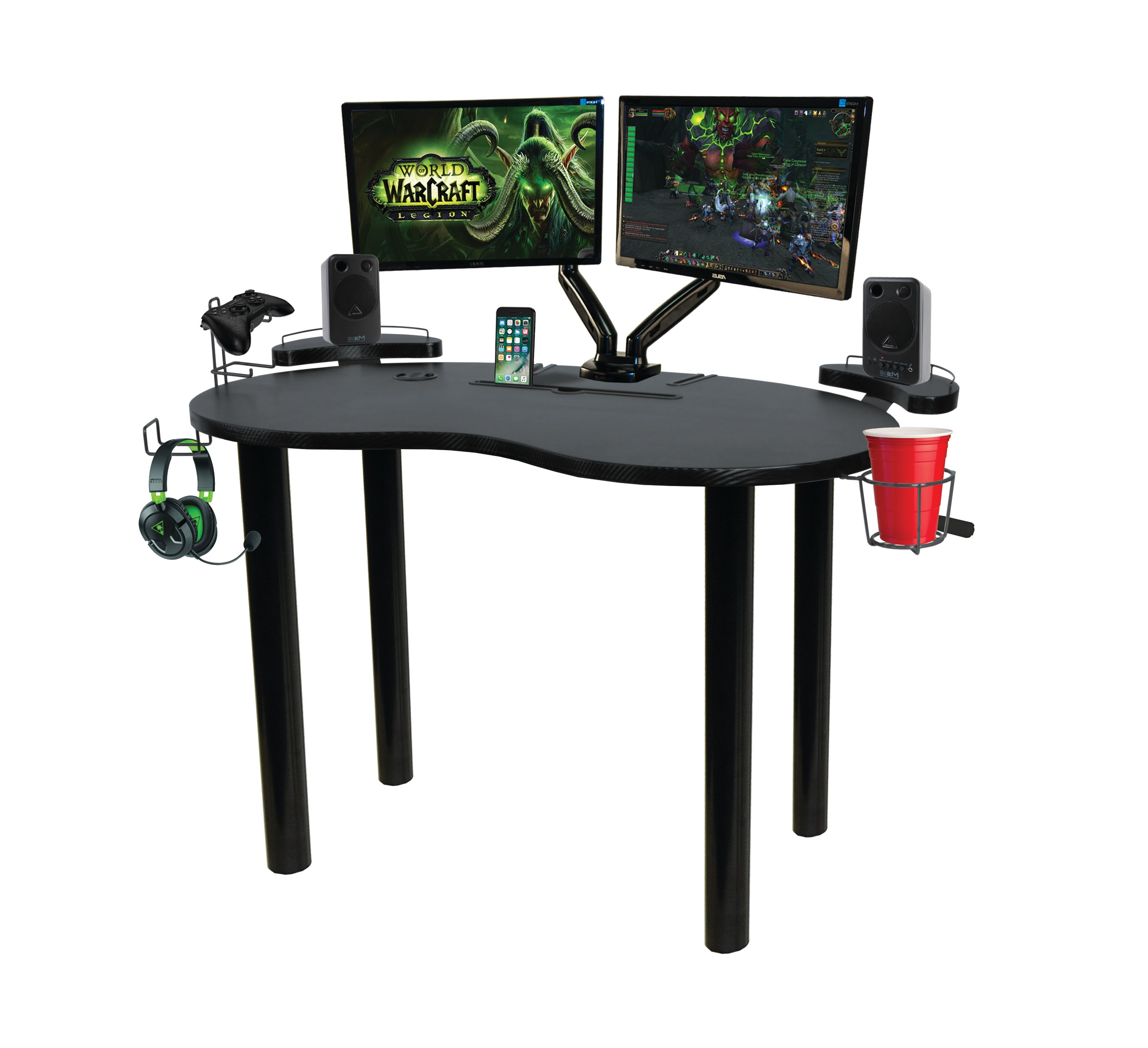 Computer Gaming Desk Atlantic Eclipse Space Saving Gaming Desk With Storage Black