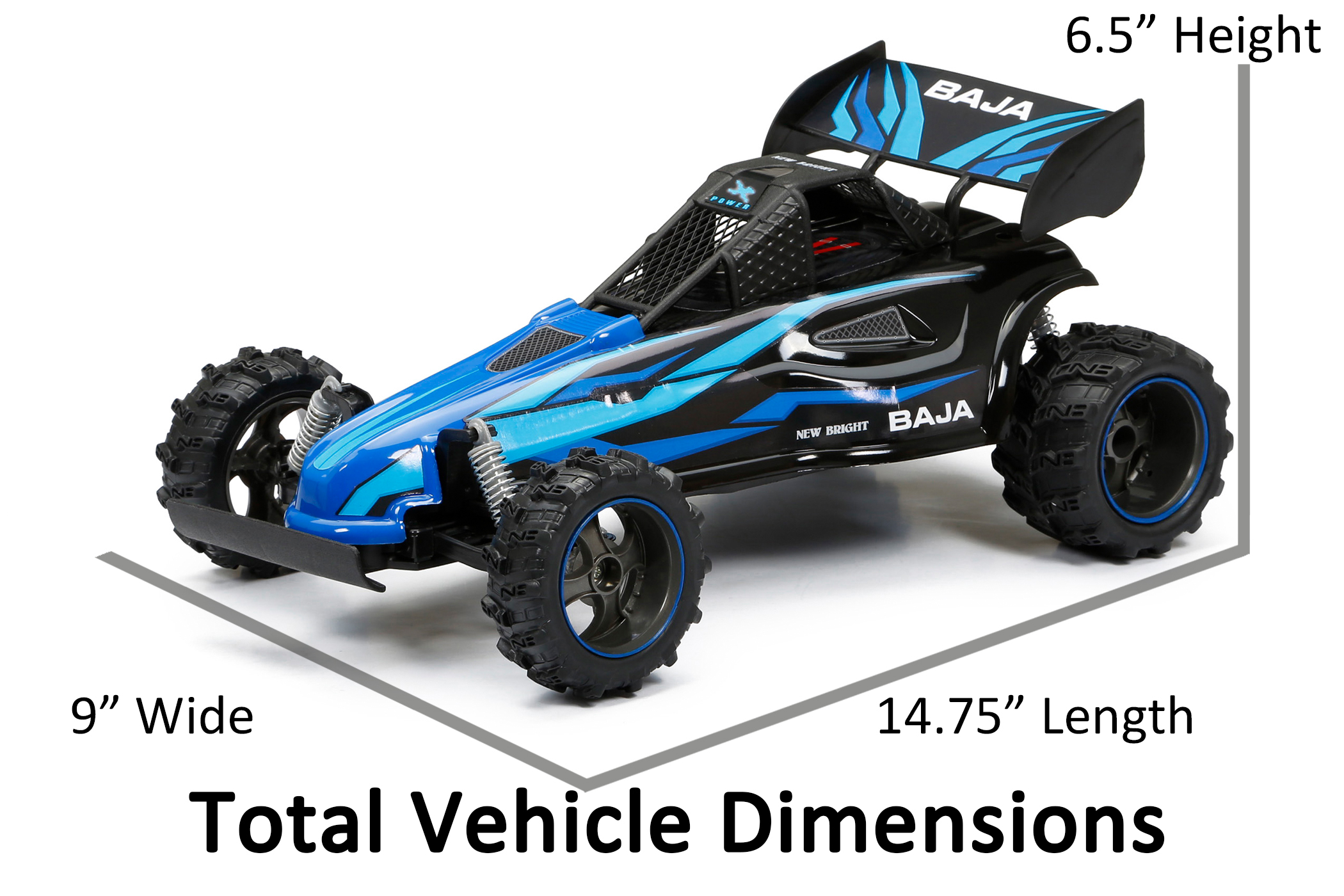 Car Rc New Bright 1 14 Rc Chargers Full Function Baja Buggy Interceptor Blue