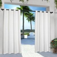 Exclusive Home Indoor/Outdoor Solid Cabana Window Curtain ...