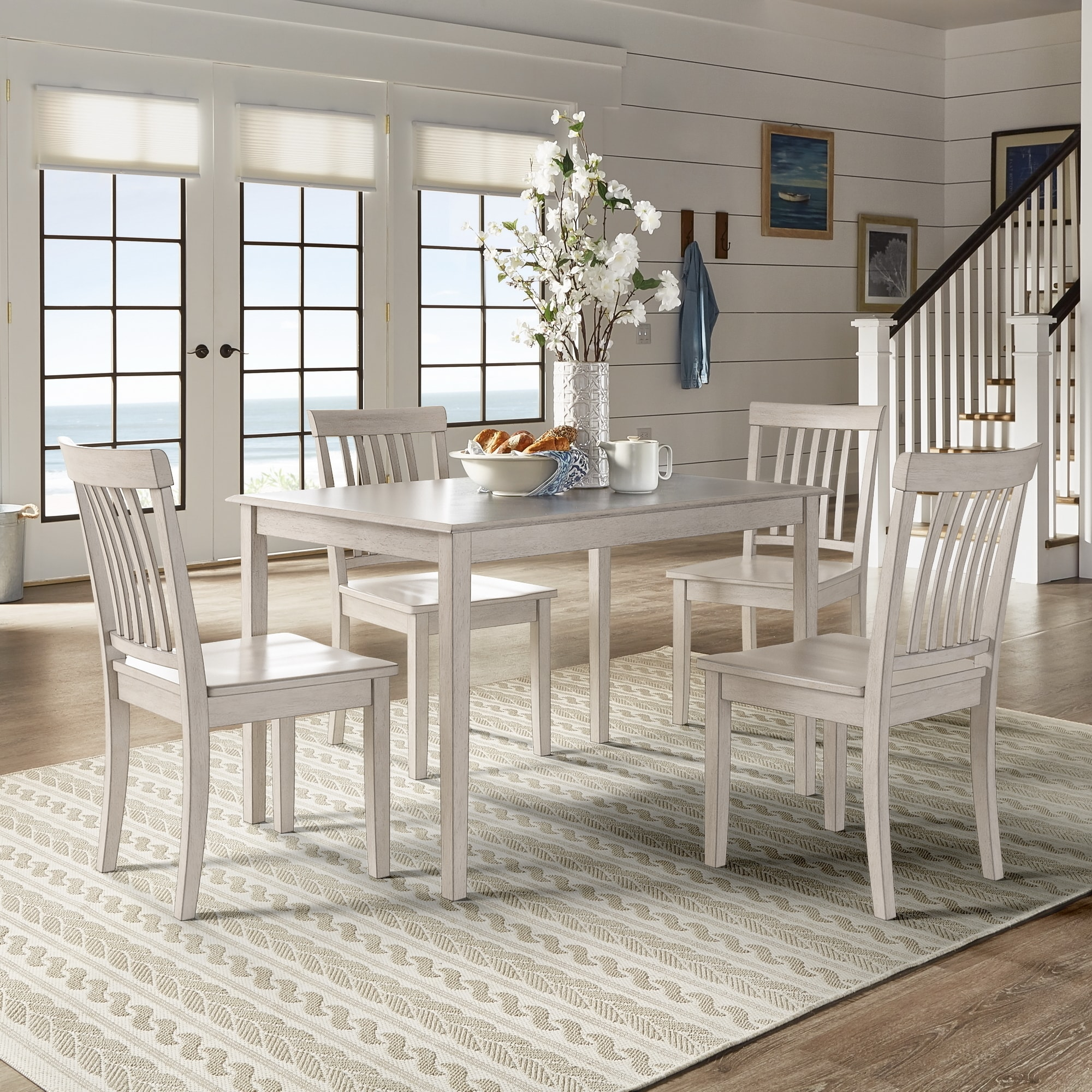 Inspire Q Wilmington Ii 48 Inch Rectangular Antique White 5 Piece Dining Set By Classic Walmart Com Walmart Com