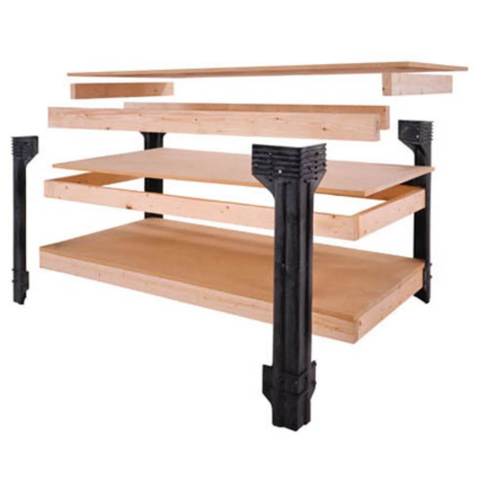 2x4 Basics Workbench Legs Wood Walmart Com Walmart Com