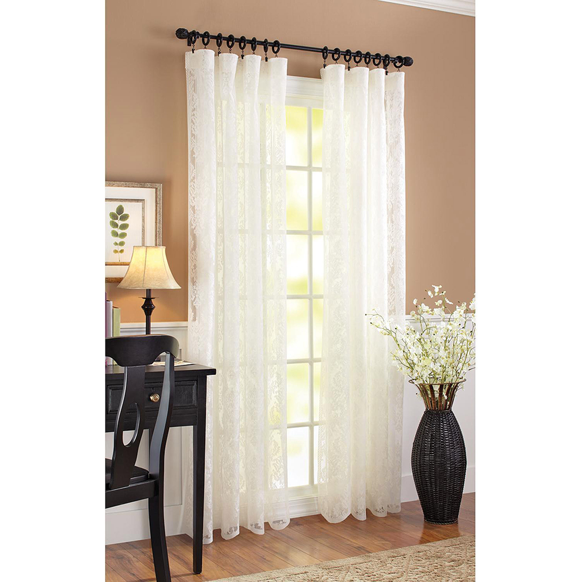 Curtains For Sale At Walmart Better Homes Gardens Damask Scroll Curtain Panel