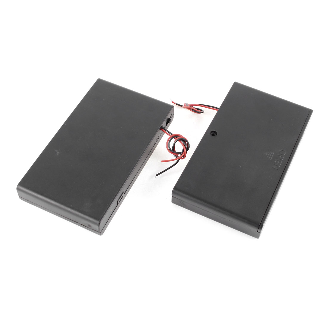 2 Pcs 8 X Aa 12v Battery Holder Case Box Wired On Off