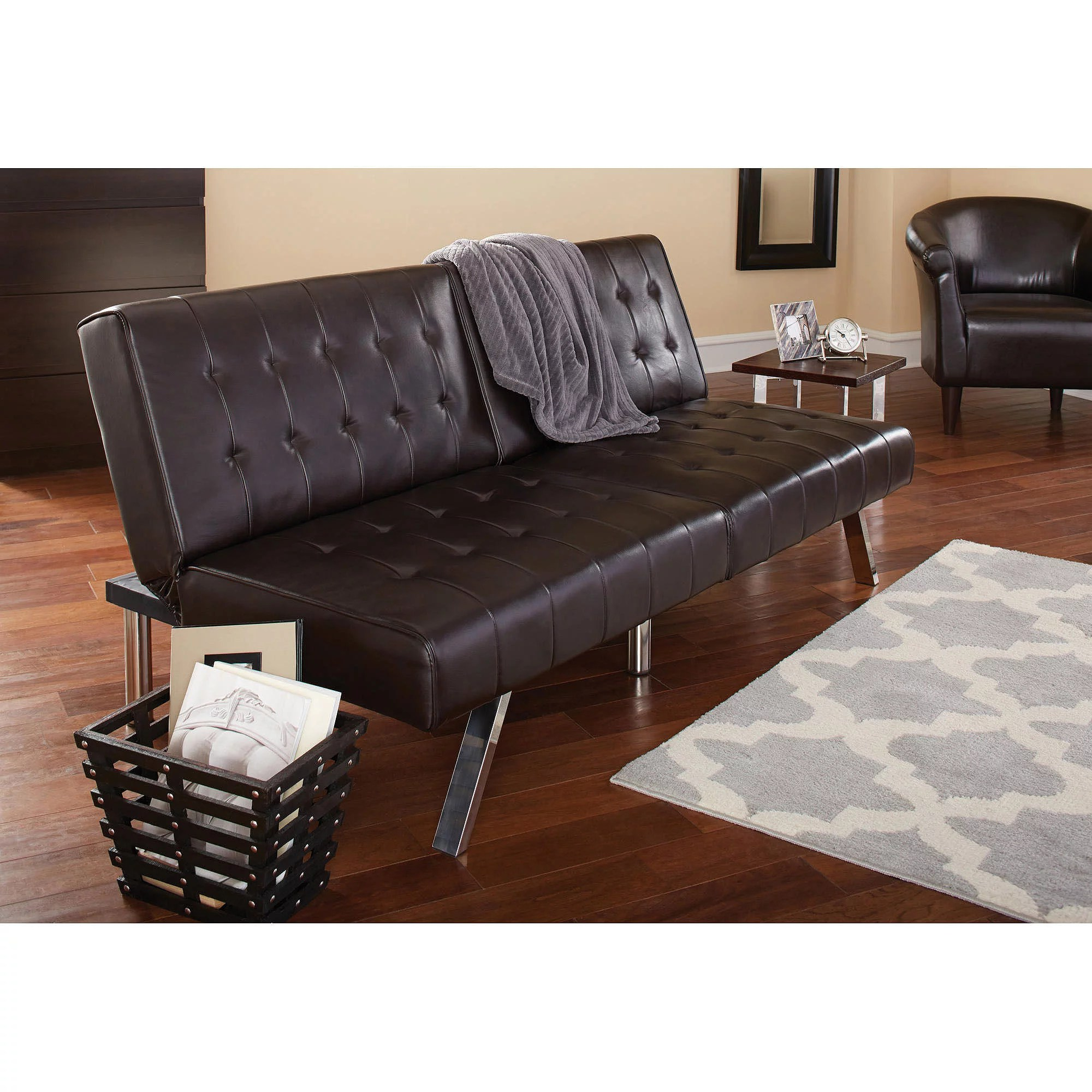 Mini Futon Walmart Sofa Beds Target Target Futons Sofa Beds Walmart  Mainstays Morgan Faux Leather Tufted