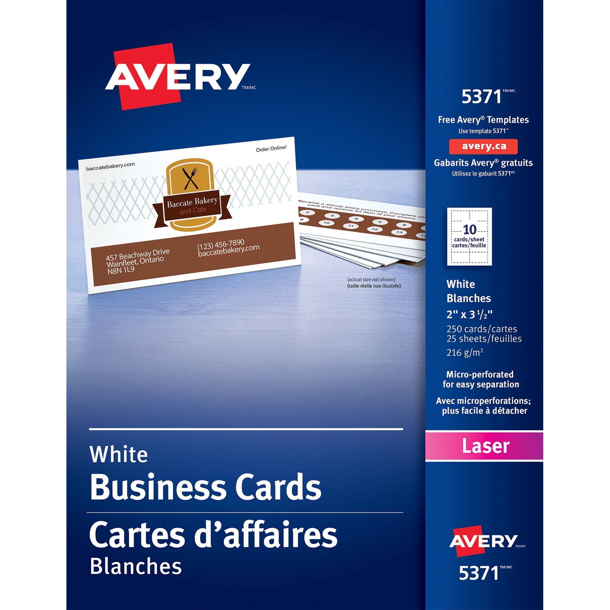 Note Card Cafe Coupon Avery Printable Microperf Business Cards Laser 2 X 3 1 2 White Uncoated 250 Pack