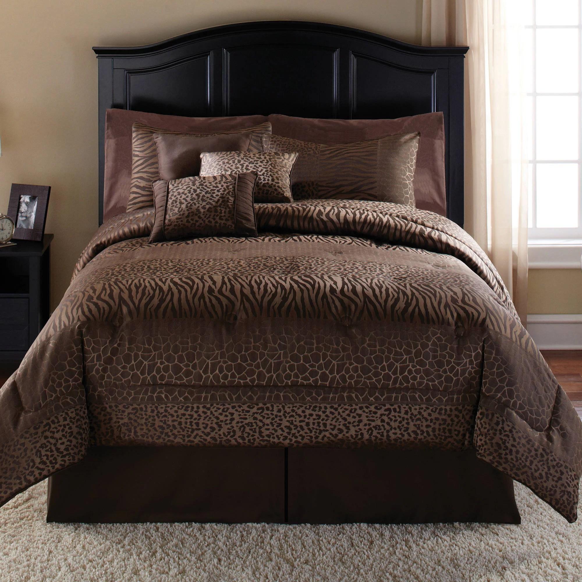 Mainstays Safari 7 Piece Bedding Comforter Set Walmartcom