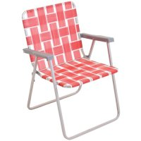 Mainstays Classic Folding Web Chair, Red - Walmart.com