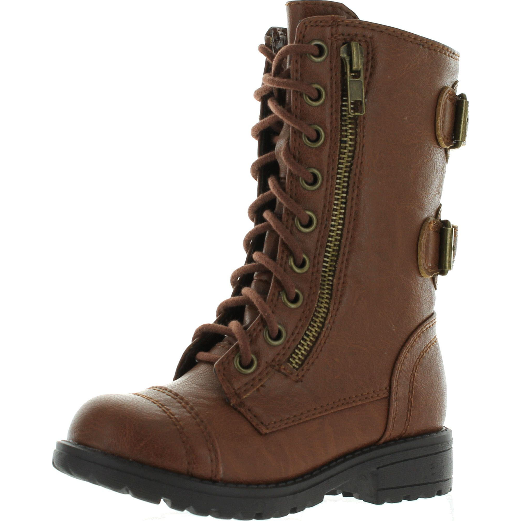Soda Soda Girls Kids Dome 2s Lace Up Military Combat
