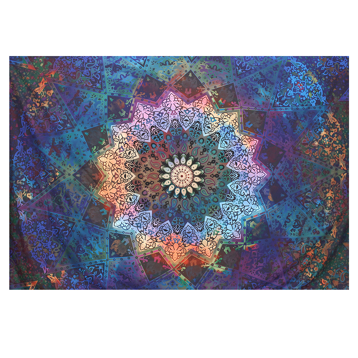 Wandbehänge Indian Skull Tapestry Wall Hanging Mandala Hippie Bedspread Throw Cover Blanket Möbel Wohnen Blowmind Com Br
