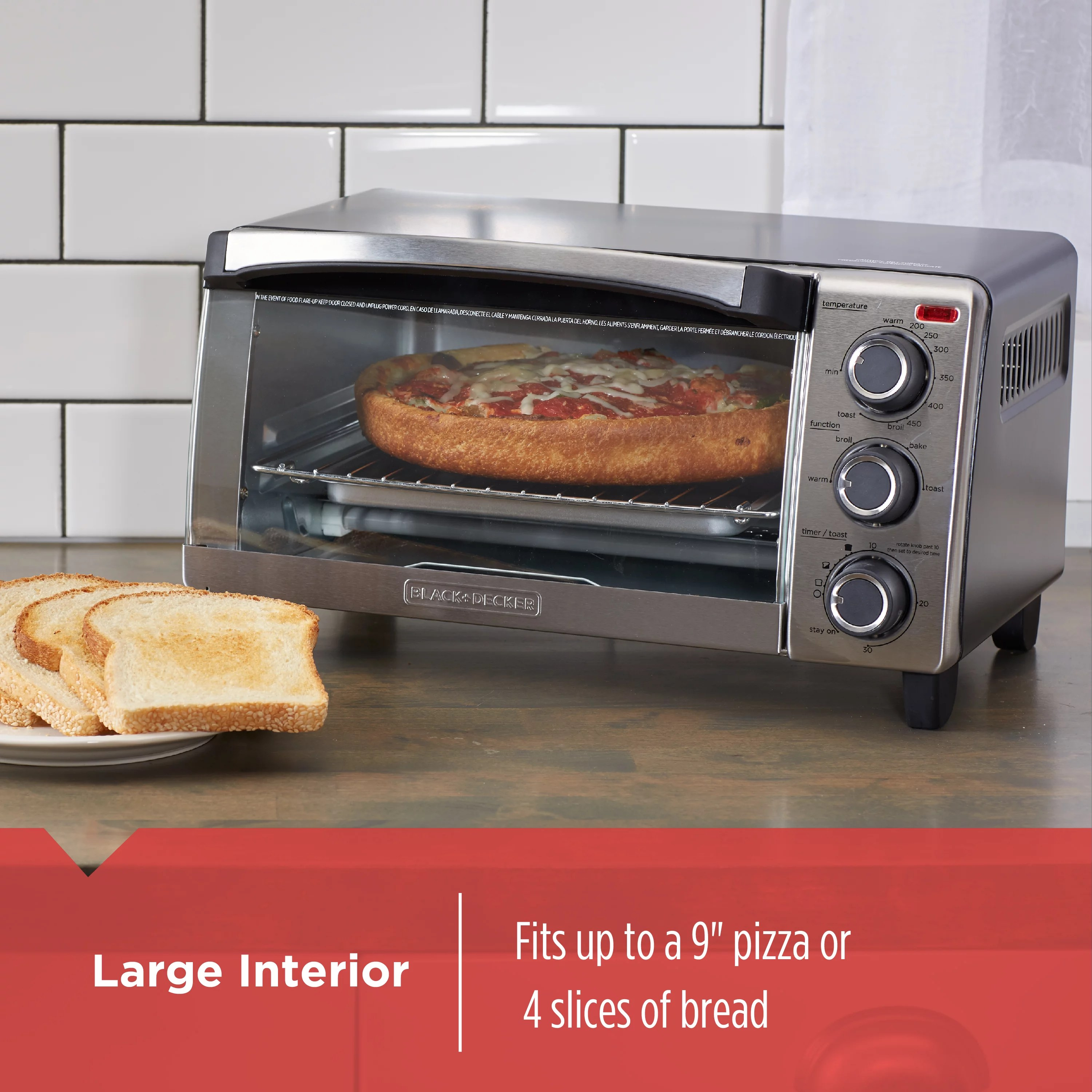 Countertop Ovens For Baking Countertop Convection Oven Pizza Toaster Stainless Steel