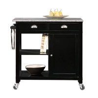 Better Homes and Gardens Kitchen Cart, Black/Granite