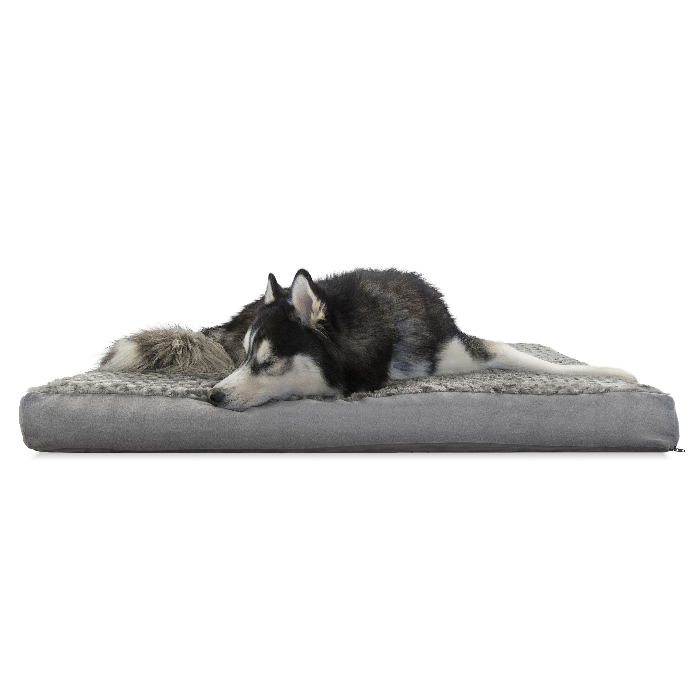 Dog Beds Pet Furhaven Pet Dog Bed Deluxe Cooling Gel Memory Foam Orthopedic Ultra Plush Mattress Pet Bed For Dogs Cats Gray Jumbo