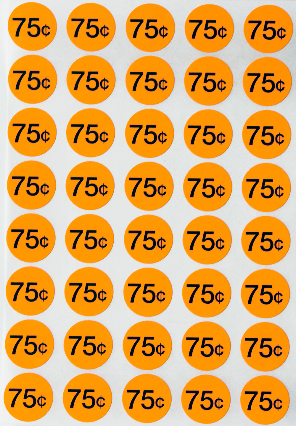 Garage Sale Price Stickers Price Stickers Pricing Labels 7 00 Dollars Garage Sale Label In Neon Orange 3 4