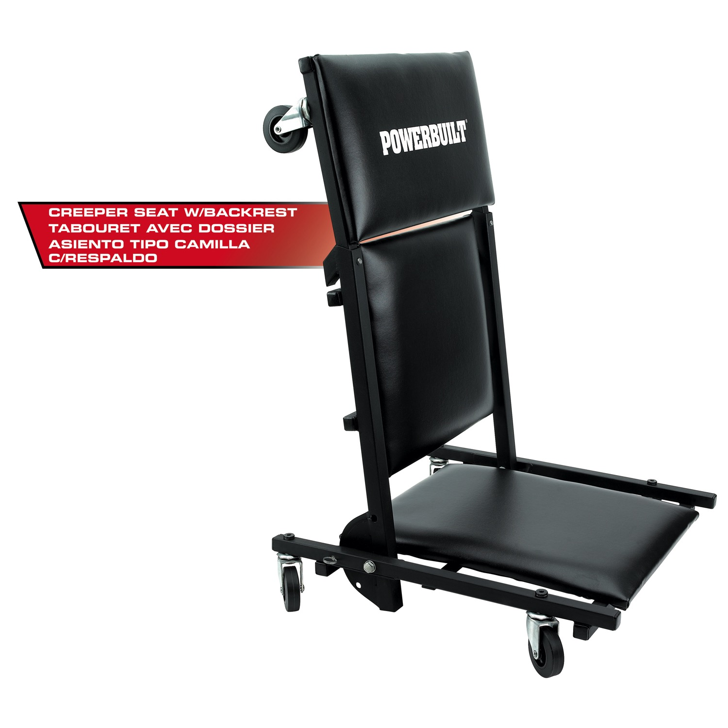 Tabourets Walmart Powerbuilt 3 In 1 40 Inch Floor Creeper Garage Creeper And Rolling Seat 640981