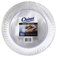 "Chinet Cut Crystal Plastic Plates, 10"", 8 ct - Walmart.com"