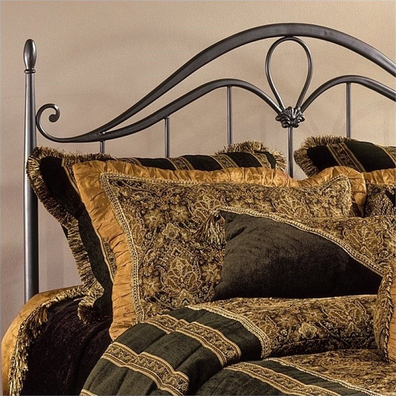 Bowery Hill Full Queen Metal Spindle Headboard With Frame