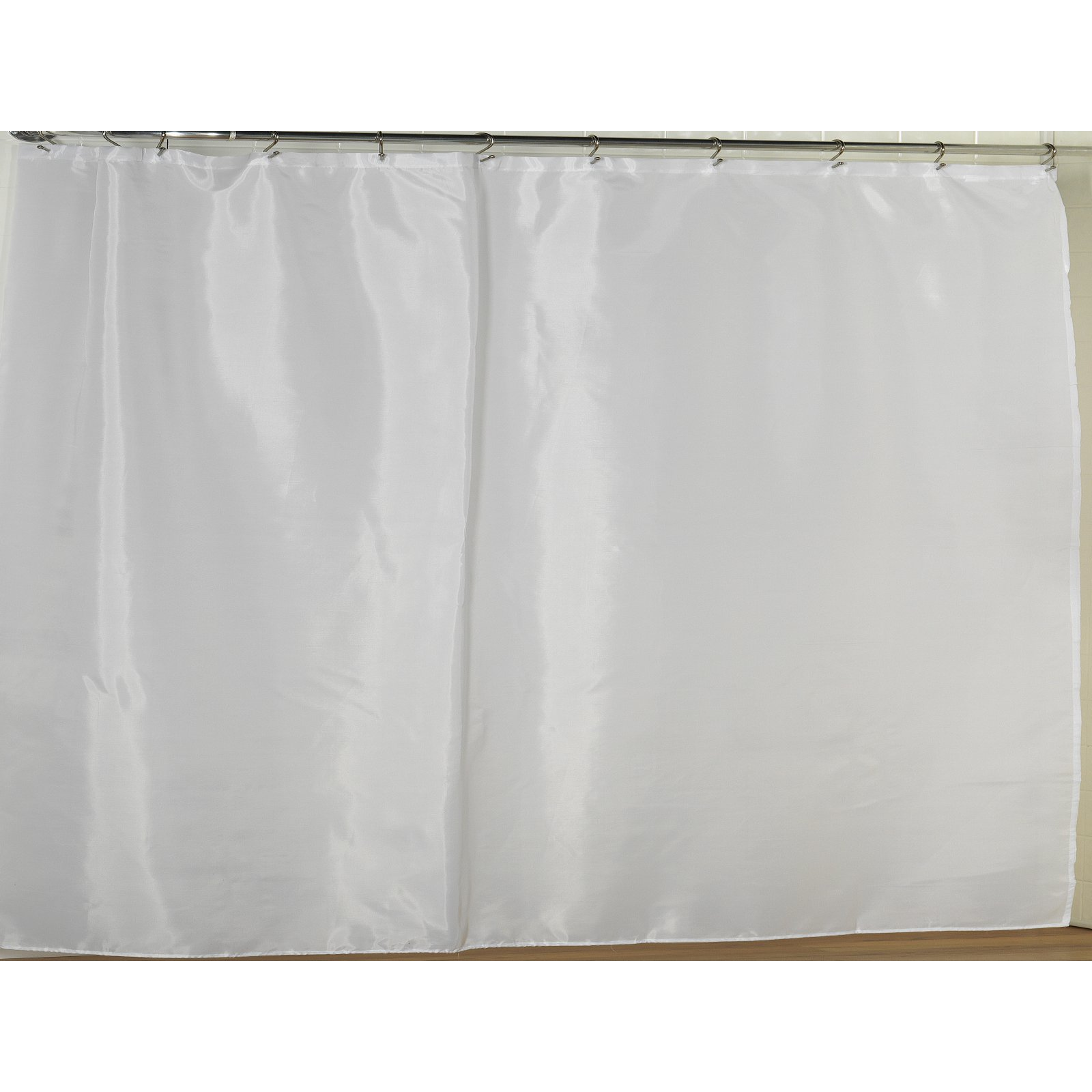 108 Long Shower Curtain Extra Wide Polyester Fabric Shower Curtain Liner In White