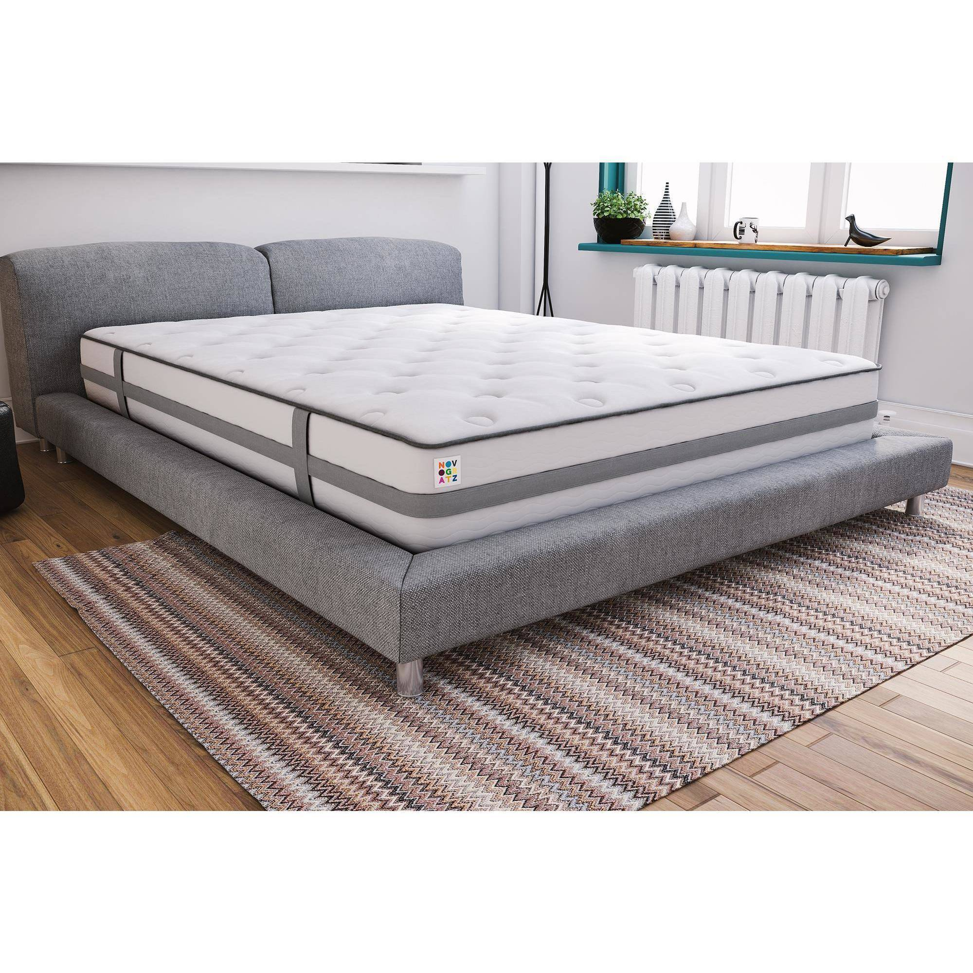 Latex Foam Mattress Novogratz Atlas Mattress Latex Memory Foam Mattress With Certipur Us Certified Foam Multiple Sizes