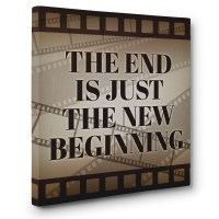 The End Theater Cinema Movie Room Wall Art CANVAS Decor ...