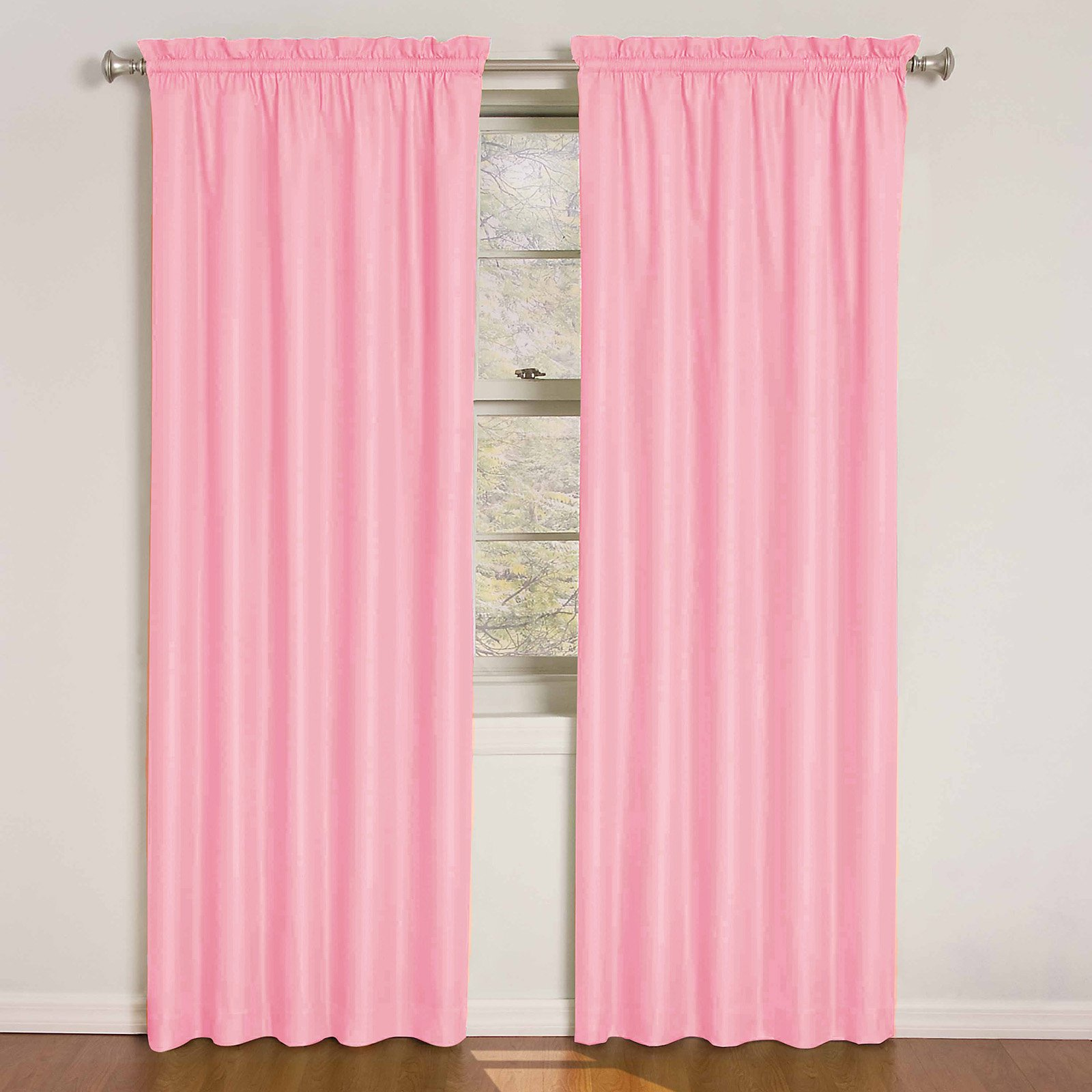 36 Inch Room Darkening Curtains Eclipse Phoenix Blackout Window Curtain Panel Pair