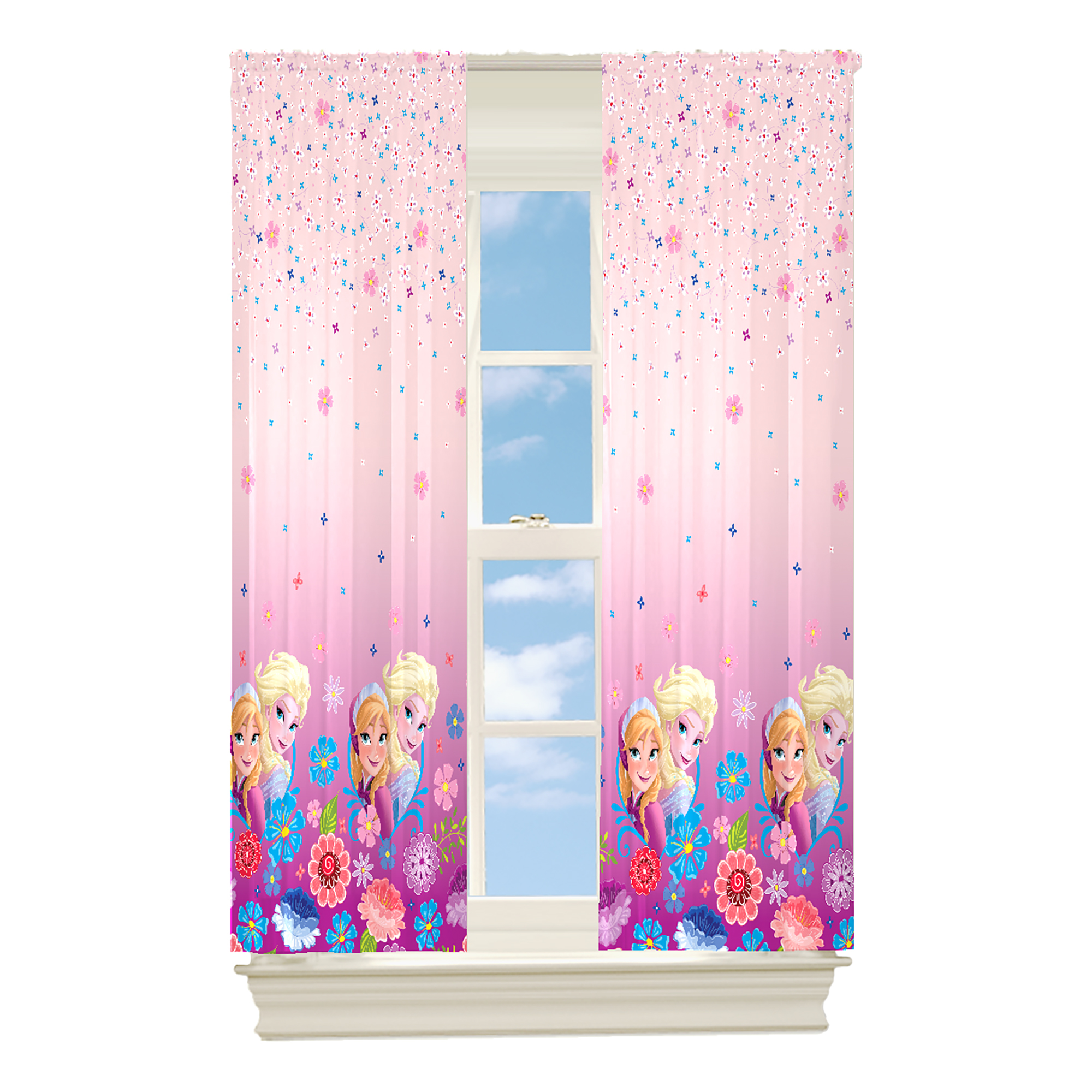 Frozen Anna Elsa Olaf Curtain Curtain Curtain Thermo 2 Obscures Ice Queen New Ebay - Vorhang Installieren
