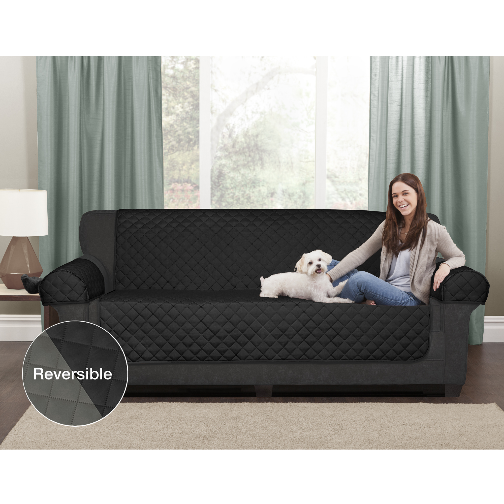 Sofas And Stuff Reviews Mainstays Reversible Microfiber 3 Piece Sofa Furniture Cover Protector