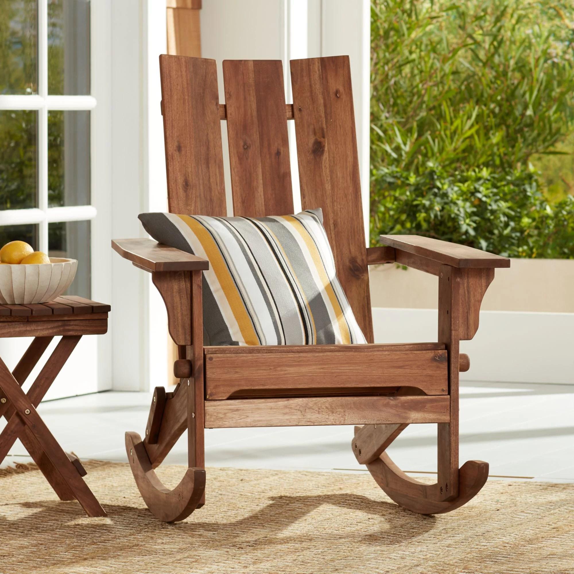 Teal Island Designs Modern Adirondack Rocking Chair