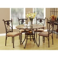 Acme Furniture Kleef 5 Piece Round Dining Table Set ...
