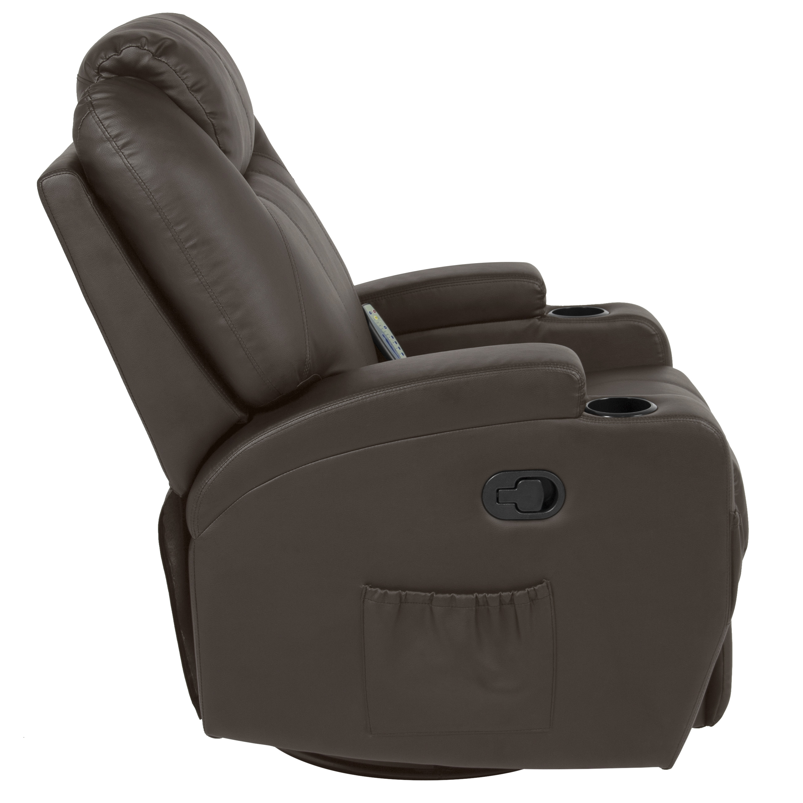 Chair Leather Reclining Swivel Best Choice Products Executive Pu Leather Swivel Electric Massage Recliner Chair W Remote Control 5 Heat Vibration Modes 2 Cup Holders 4 Pockets