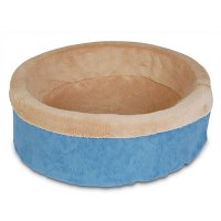 Deluxe Cuddle Cup with Sheepskin Dog Bed, Color Will Vary ...