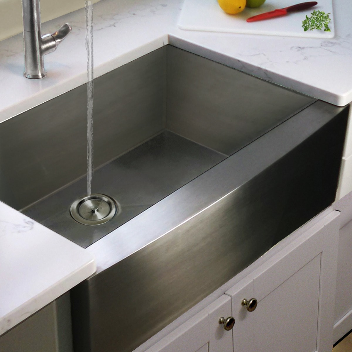 Overstock Farmhouse Sink Stainless Steel Single Bowl Apron Farmhouse Kitchen Sink