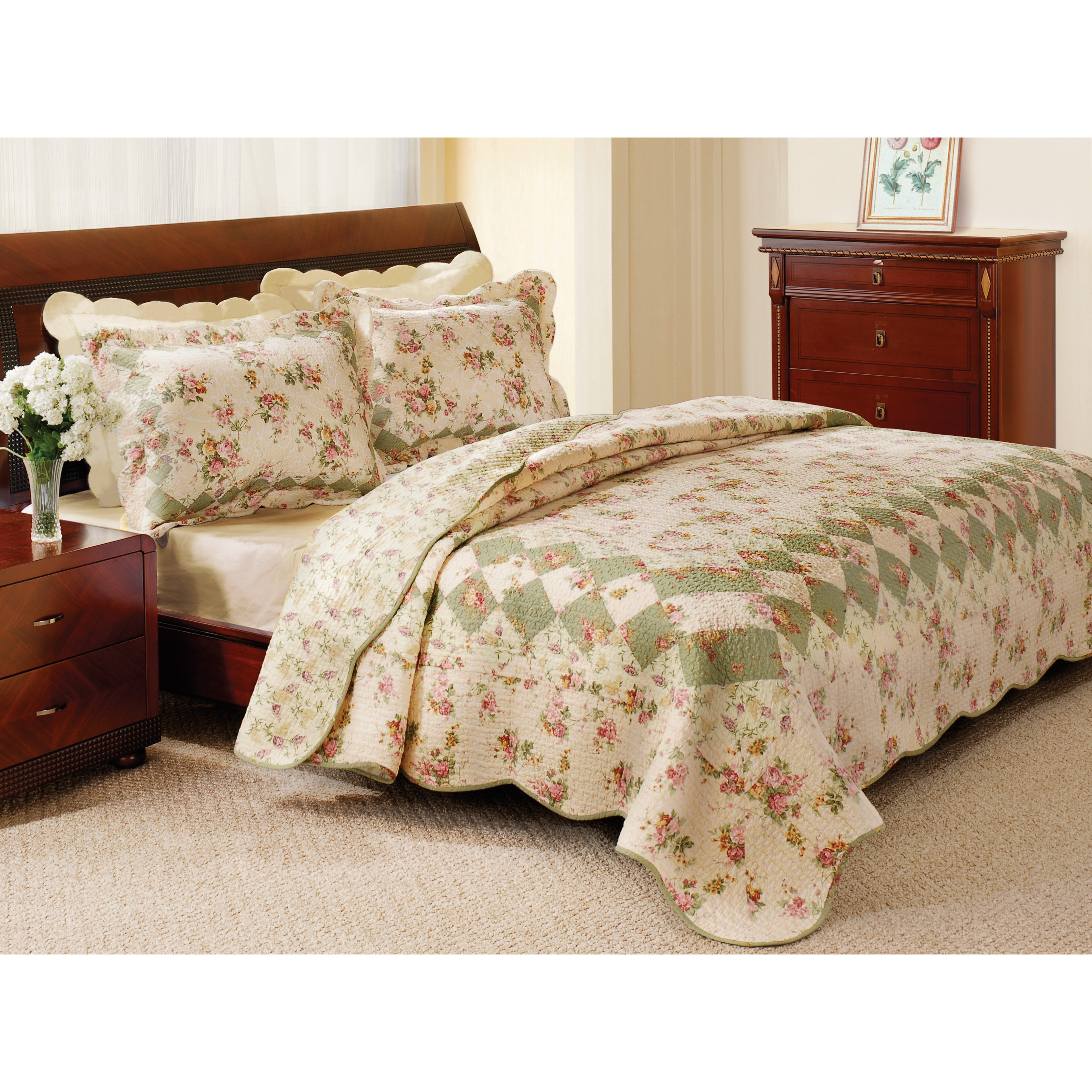 Quilt Sets Global Trends Cinnamon Spice Reversible Quilt Set