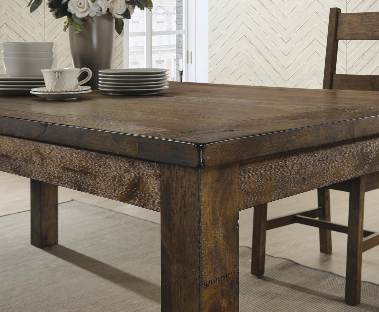 Dining Room Furniture Rustic Coaster Company Coleman Rustic Dining Table Rustic Golden Brown