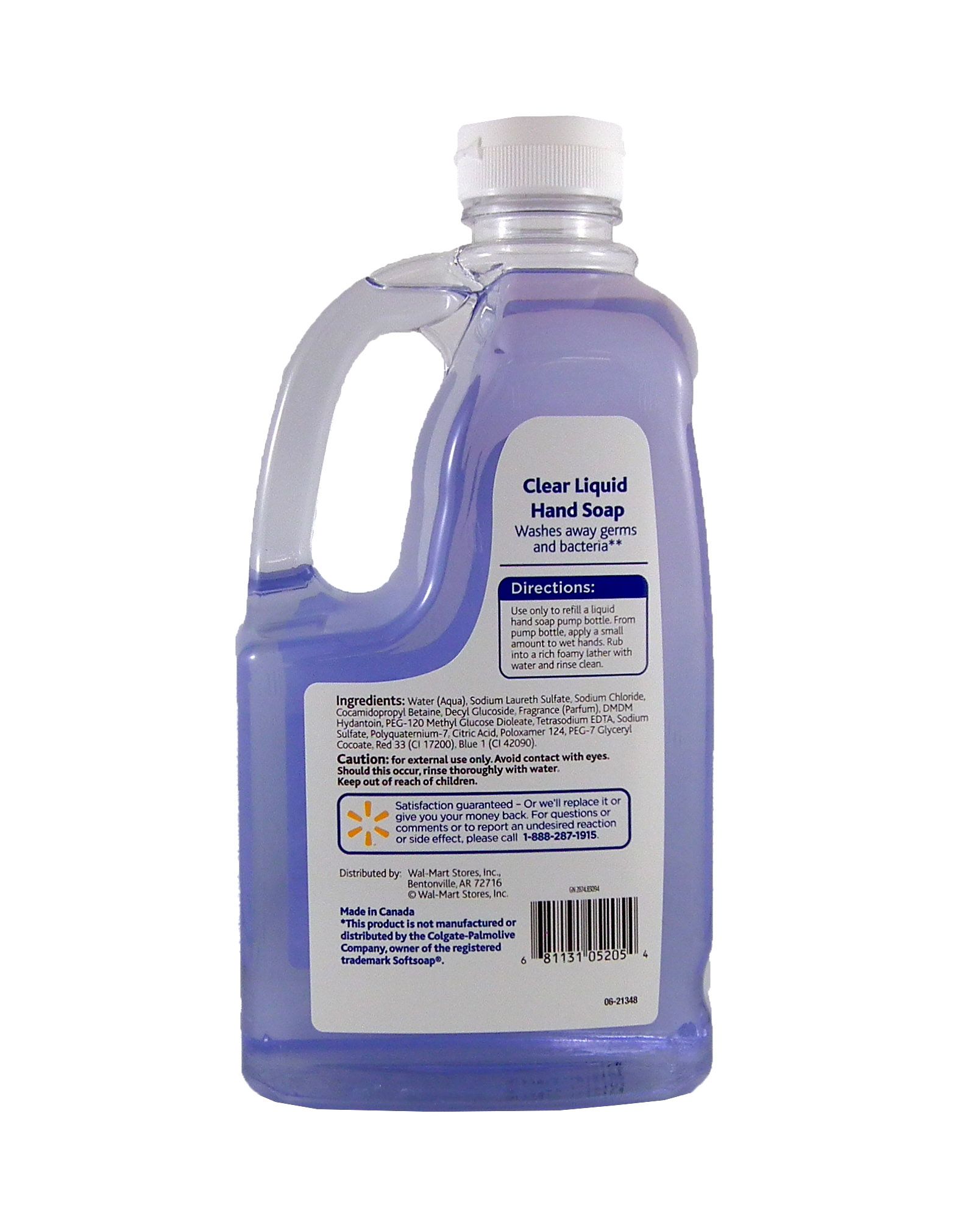 Hand Soap Refill Equate Clear Liquid Hand Soap Refill 56 Oz