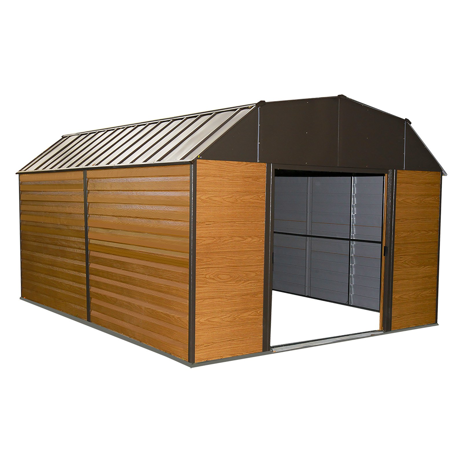 Steel Storage Sheds Arrow Woodhaven 10 X 14 Steel Storage Shed