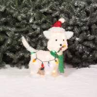 "Holiday Time Christmas Decor 24"" Fluffy Dog Light"