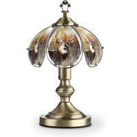 "OK Lighting 14.25"" Antique Bronze Touch Lamp With Deer ..."
