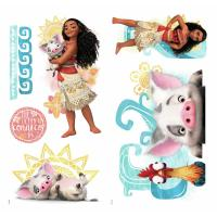 DISNEY MOANA AND FRIENDS 6 WALL DECALS Pua Hei Hei Rooster ...
