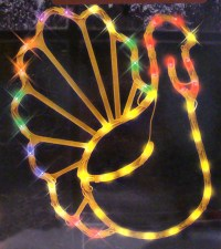 "17"" Lighted Thanksgiving Turkey Window Silhouette ..."