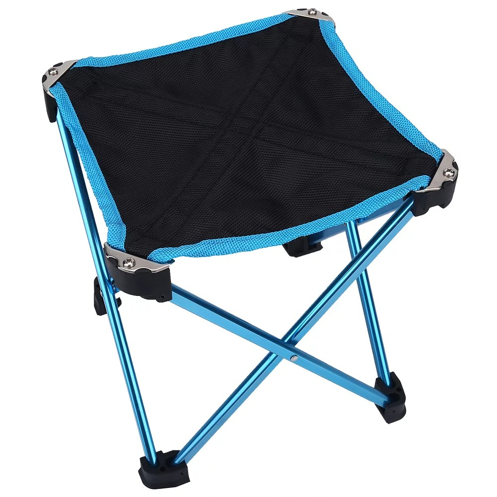 Collapsible Chair Camping Stool Folding Chairs Outdoor Fold Up Chairs Four Legs Portable Collapsible Chair For Hiking Fishing Travelling Outdoor Stool Lightweight